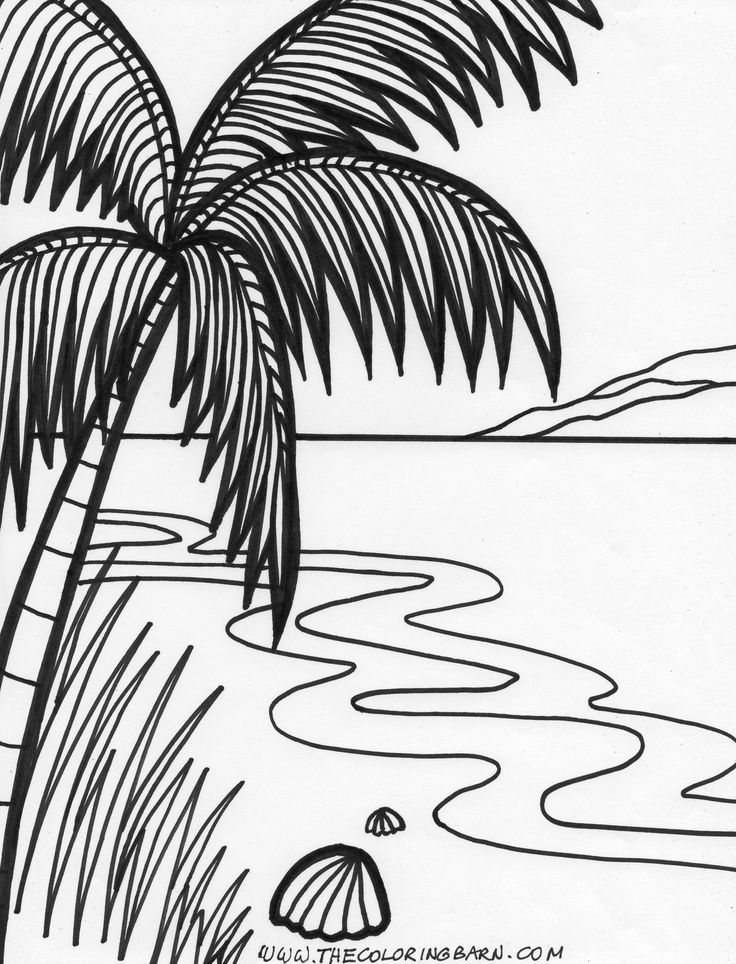 Adult Coloring Pages Tropical Sunset Coloring Pages