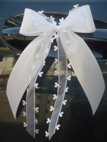 10 Stk Antennenschleife Autoschleife Autoschmuck Hochzeit SCH0062 von unser schönster Tag, http://www.amazon.de/dp/B008QMGWWE/ref=cm_sw_r_pi_dp_A8ljtb15WZBVJ