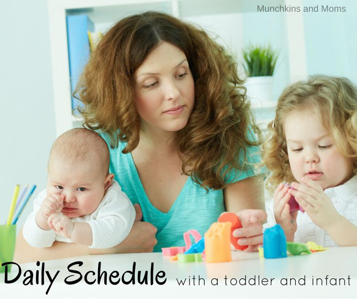 How do you survive the day with two under two? This daily schedule with a toddler and an infant helps us stay sane!