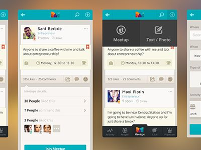 an app (meetups) by zee7 ✽
