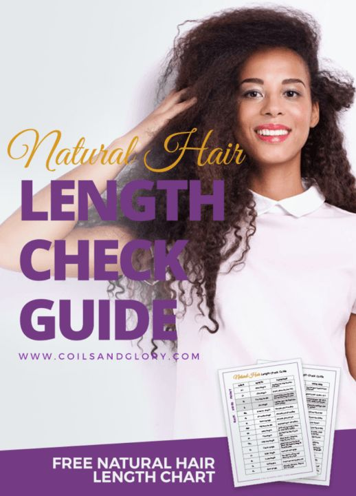 Natural Hair Length Check Hair Chart