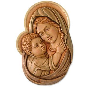 Madonna and Child-wood carving