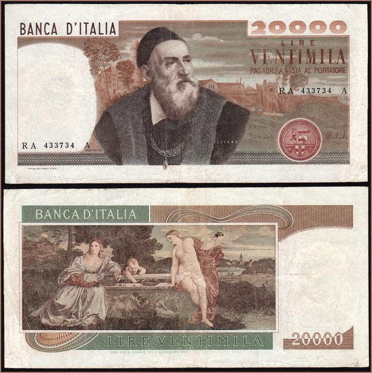 Collezione Personale di Banconote Italiane: 0.2.7. - 20000 LIRE TIZIANO