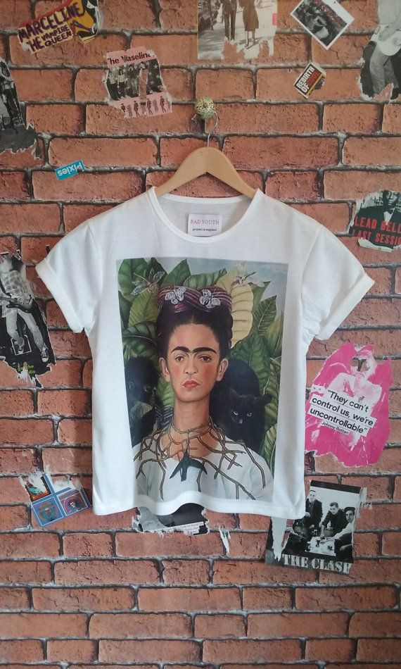 Woman's Art, Indie, Alternative Frida Kahlo self portrait t shirt/tee/T-shirt (Men's sizes available)