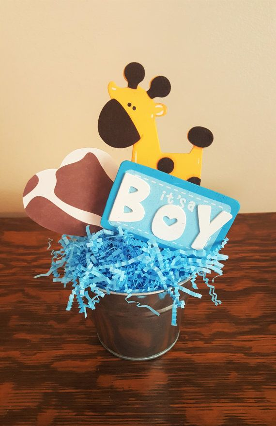 Lovely Baby Shower Centerpiece, Blue Giraffe Party, Blue Giraffe Party Decor, Boy Baby  Shower, Giraffe Baby Shower, Giraffe Party Centerpiece