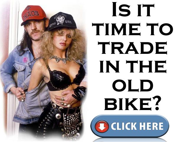 Lemmy with the gorgeous Lisa Dominique. I'm not sure how this image got here on a site that is essentially about folding bikes :)