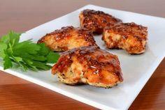 Peito de frango com molho de barbecue