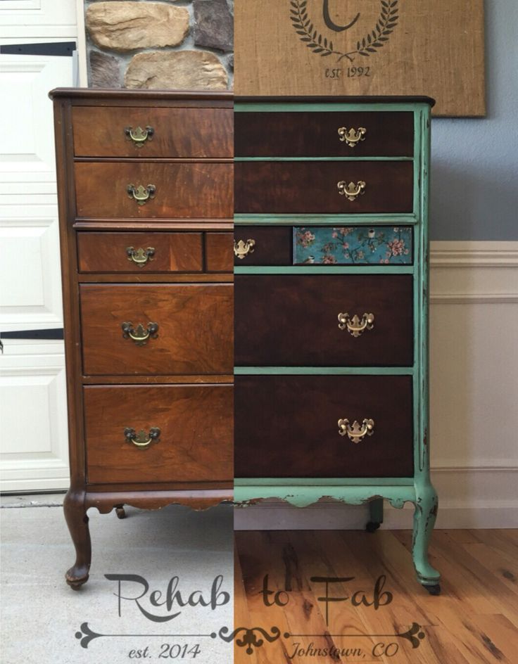 Rehab To Fab Transformed This Antique Chest Of Drawers By Using Heirloom  Traditions Paint U0026 General