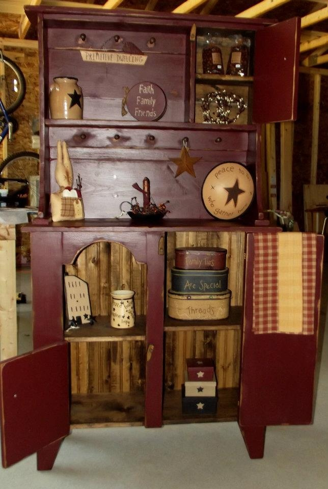 25 best ideas about red hutch on pinterest country for Hutch decor
