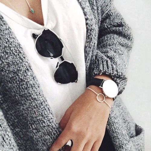 Christian Dior 'So Real' sunglasses and a Cluse watch to match