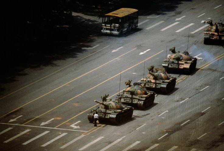 The Tank Man. Tiananmen Square, China. 1989. Stuart Franklin / Magnum Photos