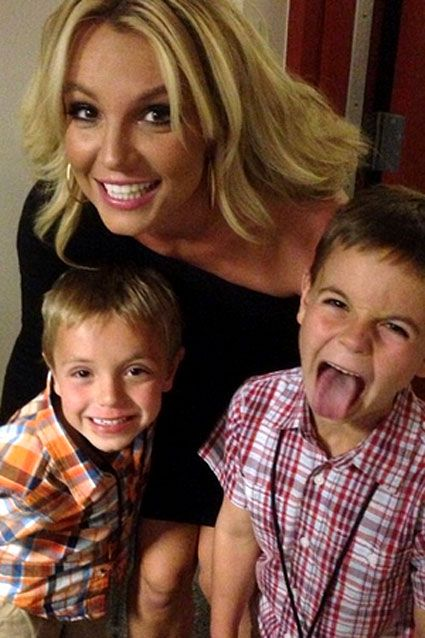 Britney Spears sons Jayden and Sean Federline on Mother's Day, May 12, 2013.