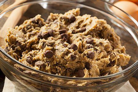 Cookie dough oatmeal havermoutpap recept,