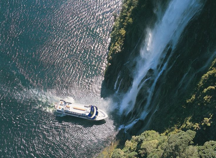 Cruise along Milford Sound for awe-inspiring views of sheer cliffs, towering mountains and beautiful waterfalls. An #nzmustdo and a fantastic day trip from Queenstown. #ultimatequeenstown  http://www.ultimatequeenstown.com/relax/milford-and-doubtful-sounds/