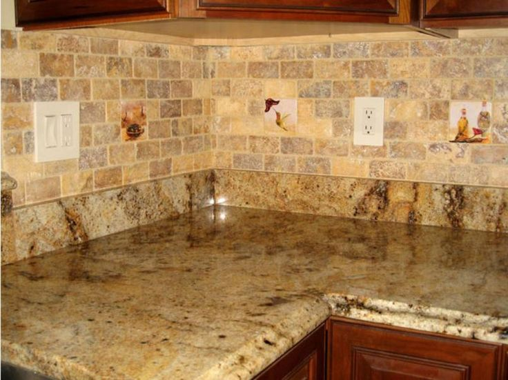 Extra Beauty From Kitchen Backsplash Design : Marvelous Kitchen Backsplash  Designs Granite Countertops Ideas. A Shiny Ceramic Tile Backsplash,Above  The ...