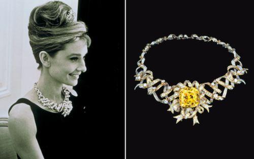http://www.rollingems.com/index.php/gemmologia/gemme/184-i-diamanti-vip Il giallo di Tiffany  è uno dei più grandi diamanti colorati esistenti; venne trovato nel 1878 in una miniera di Kimberley, in Sudafrica, e da grezzo pesava 287,42 carati. Dopo la sua scoperta fu venduto a Charles Tiffany, celebre gioielliere di New York, il quale lo affidò al suo gemmologo George Frederick Kunz.
