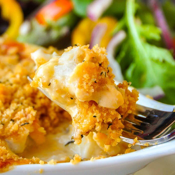 Cod au Gratin. One of our most popular recipes in ten years online. This version is easy to prepare and gets rave reviews every time.