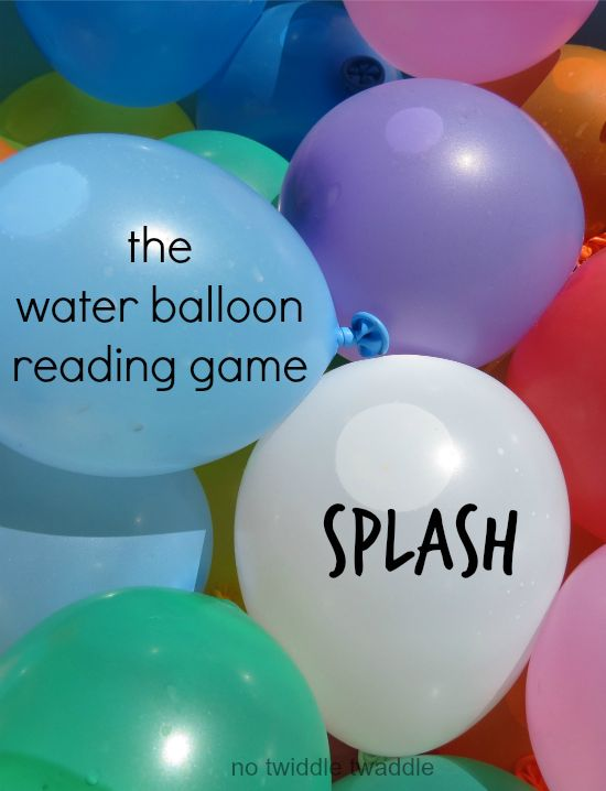 The Water Balloon Reading Game: My kids love this way of practicing sight words!