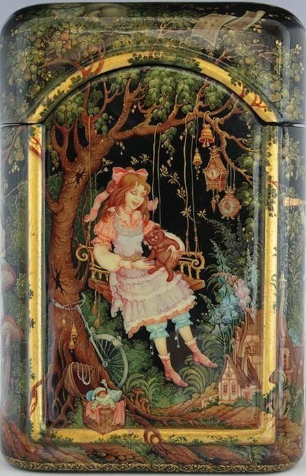 Alice in Wonderland by Larisa Poturaiko painted in 2006.  Kholui