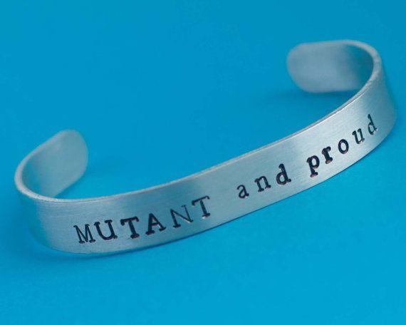 Mutant and proud bracelet, mutant bracelet, x-men jewelry, x-men bracelet, marvel bracelet, magneto, xmen, marvel fan, xmen fan, geek gift