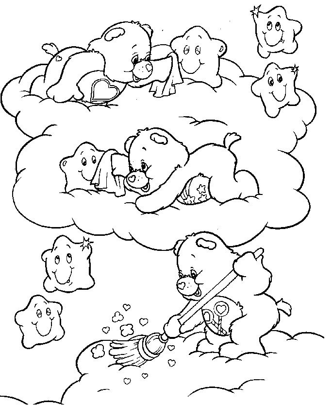 care bear valentines coloring pages - photo#12