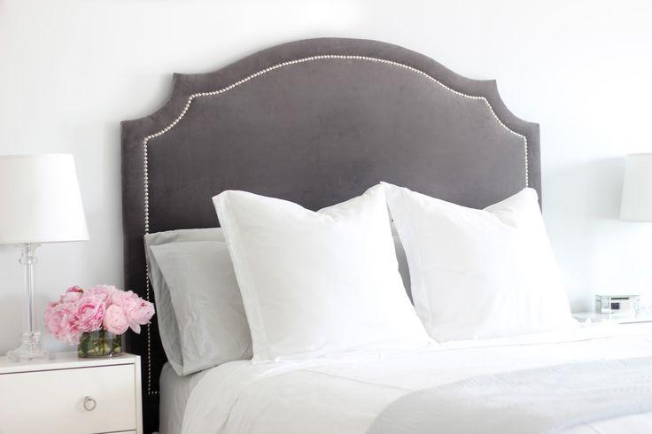 DIY headboard, upholstered headboard, cheap headboard, master bedroom redo…