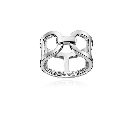 Hermes ring in sterling silver, MM, size 51