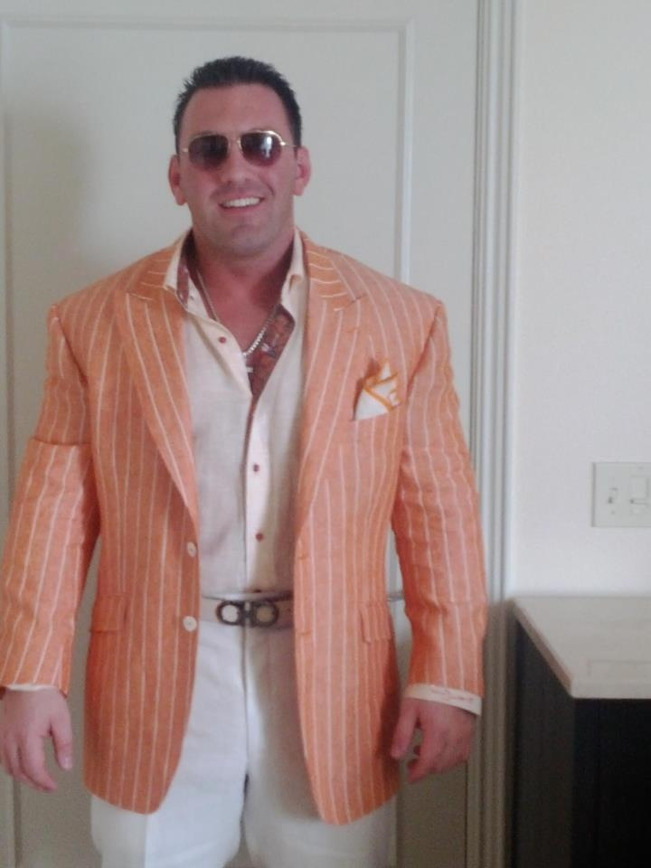 Perry Santillo dressed in AJ. Photo taken in South Beach ...