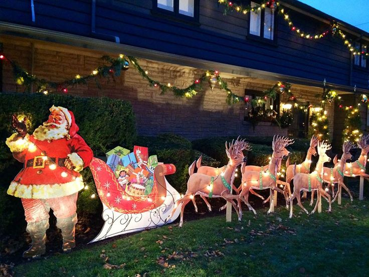 funny santa christmas yard decorations from wood | Mike makes a U-Bild Santa and reindeer lawn display from ...