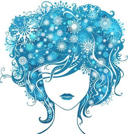 Decorative illustrated girl