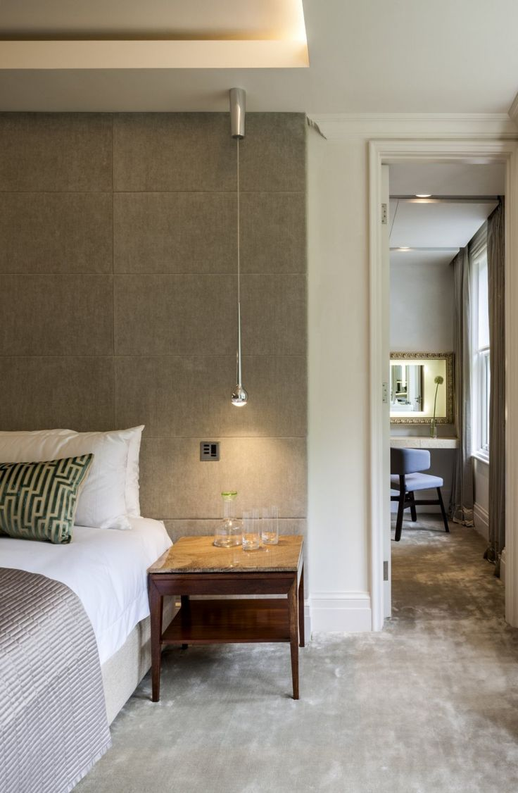 BEDROOM West London #upholstered walls #classic