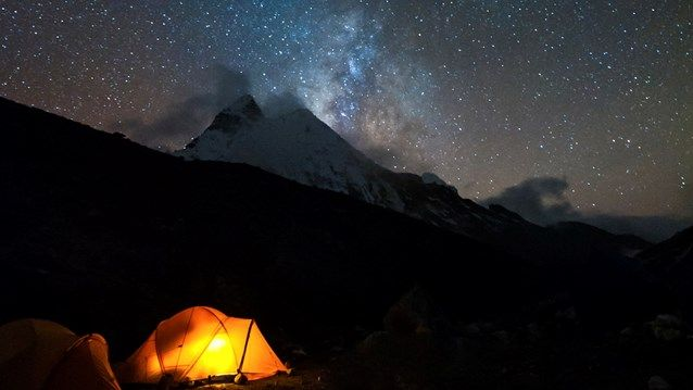 Camping under the stars and the Milky Way - A true adventure #stars #nature #camping #tent #kilroy #mountains