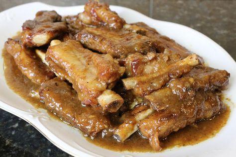 Buena cocina mediterranea: Costillas de cerdo en salsa