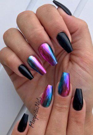 @vetro_usa #nails #coffinnails #chromenails #nailart