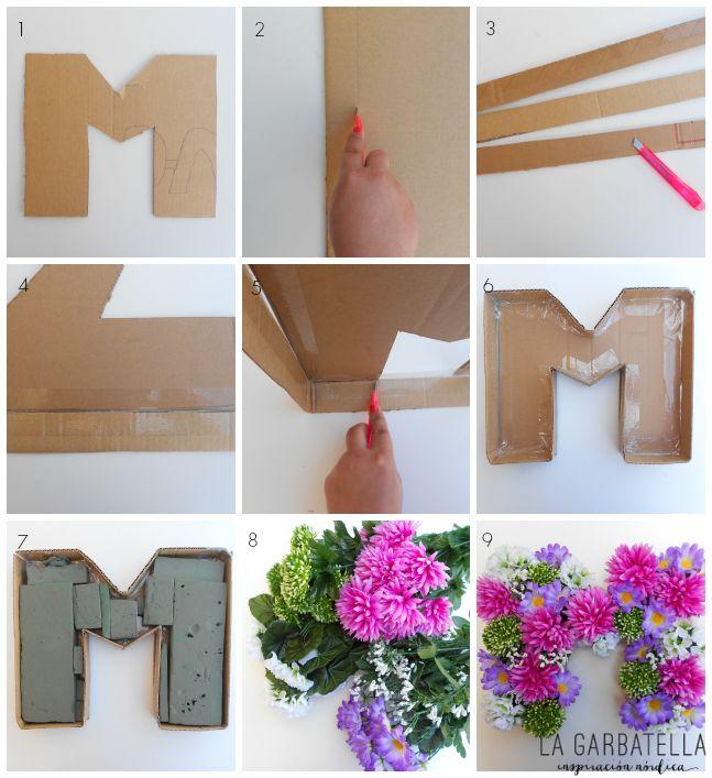 WEDECO... decora con flores: letras de primavera   La Garbatella: blog de decoración, estilo nórdico.