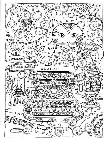 31 best Criative Cats para colorir images on Pinterest | Katzen ...