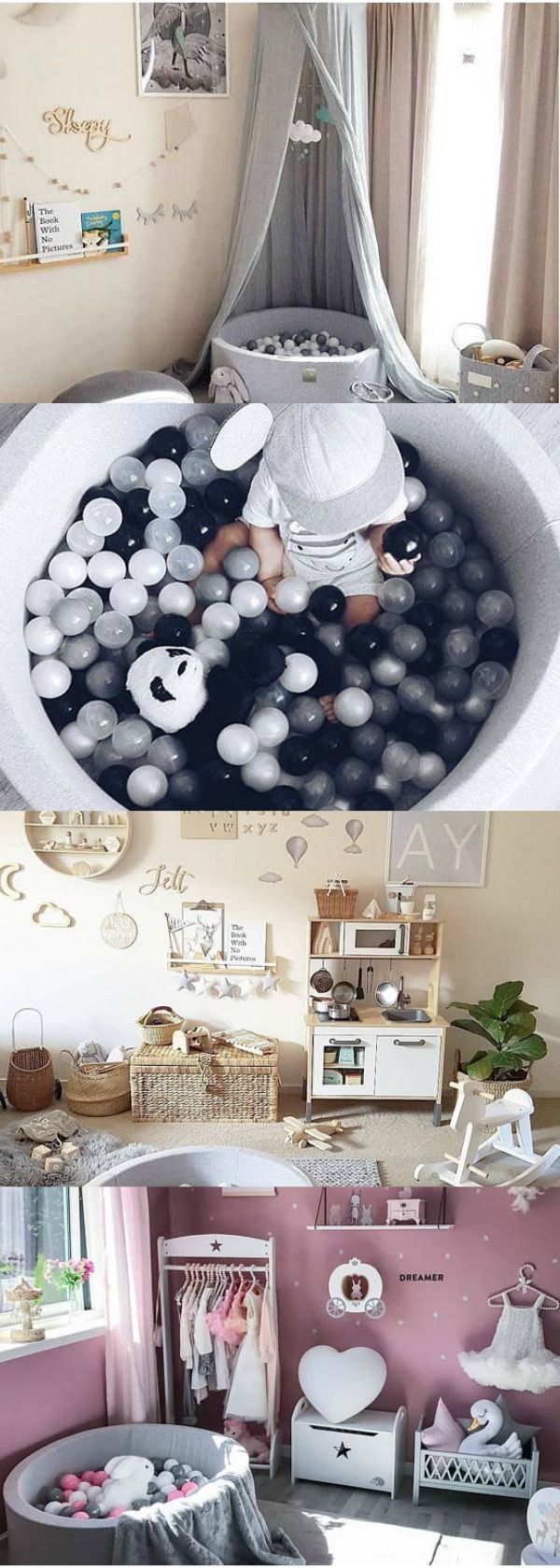 Gray Dry Ball pit GRAY with 250 High Quality Plastic balls For Baby Kids Children Dry Pool bällebad Modern Nursery Decor Kids Toy Gift #nurserybedroomdecor #ad