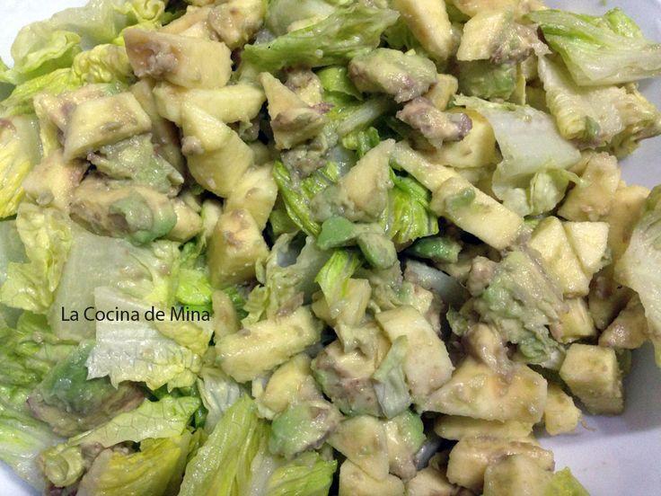Receta ensalda verde de aguacate y manzana #lacocinademina https://lacocinademina.wordpress.com