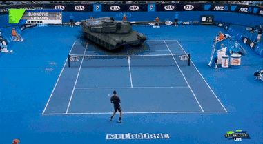 wtf tennis djokovic tenis tanque via diggita.it #tennis