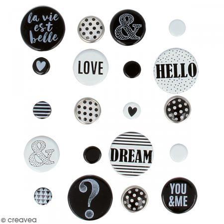 Encuadernadores parisinos Artemio - Black & White - 20 brads - Fotografía n°2