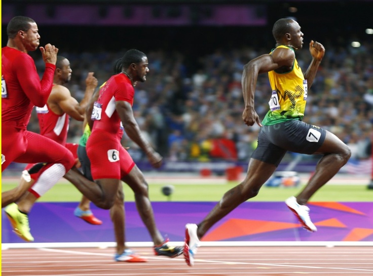 Usain Bolt from Jamaica fastest man in the world wins 100m with record breaking 9.63