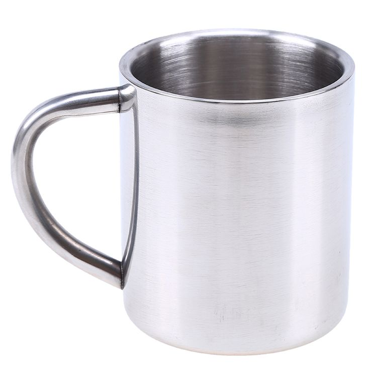 Coffee Mug 230ml Double Wall Layer Insulation Stainless Steel Water Beer Whisky Tumblers Mug Cup for Outdoor Camping #Affiliate