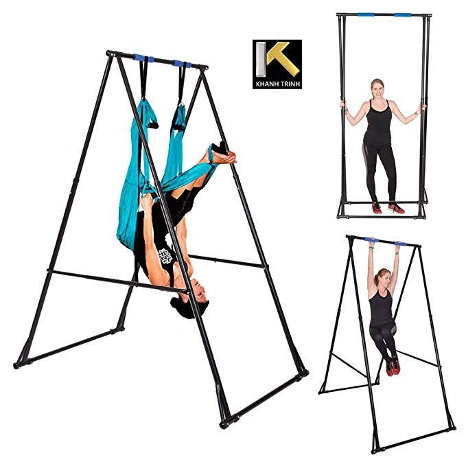 Kt Khanh Trinh Foldable Aerial Yoga Frame Stand Portable Indoor Model Kt1 15201 Height Adjustable Yoga Swing Bar S Aerial Yoga Hammock Yoga Trapeze Yoga Swing