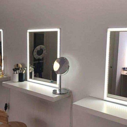 espejo para maquillaje profesional ledshine de x cm ledshine tiene tonos de luz
