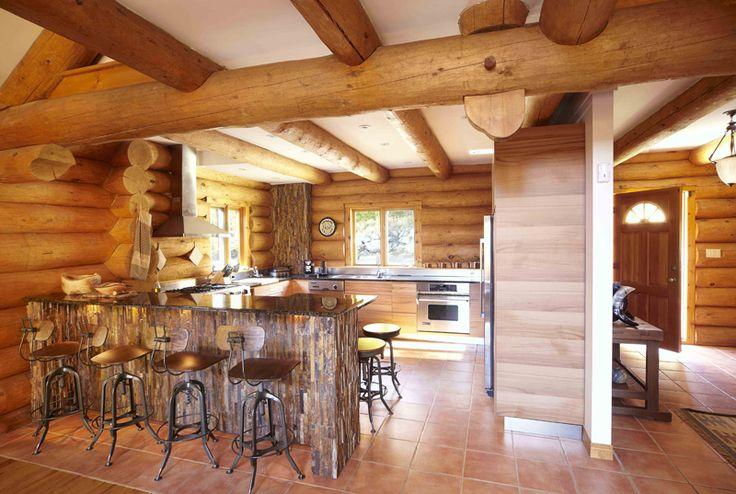Mountain Living Log Home