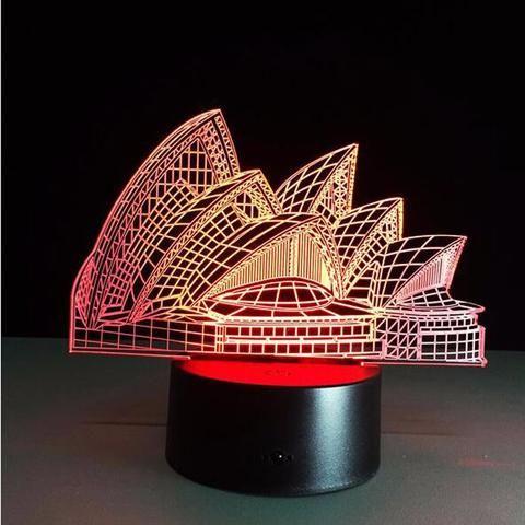 Sydney Opera House  3D illusion night light