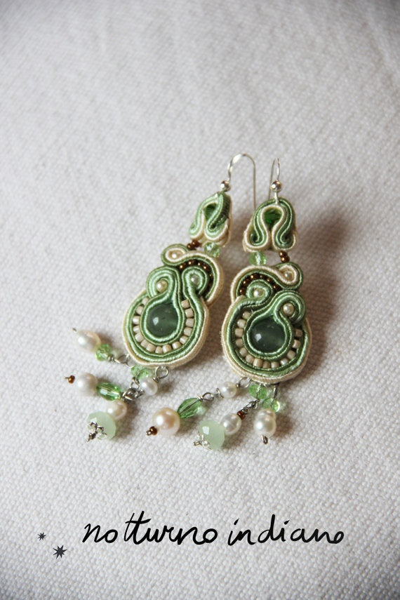 soutache earrings di notturnoindiano su Etsy, €40.00