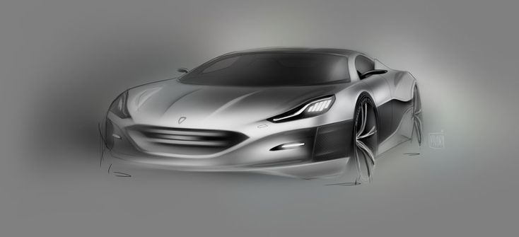 Rimac Concept One - Design Sketch