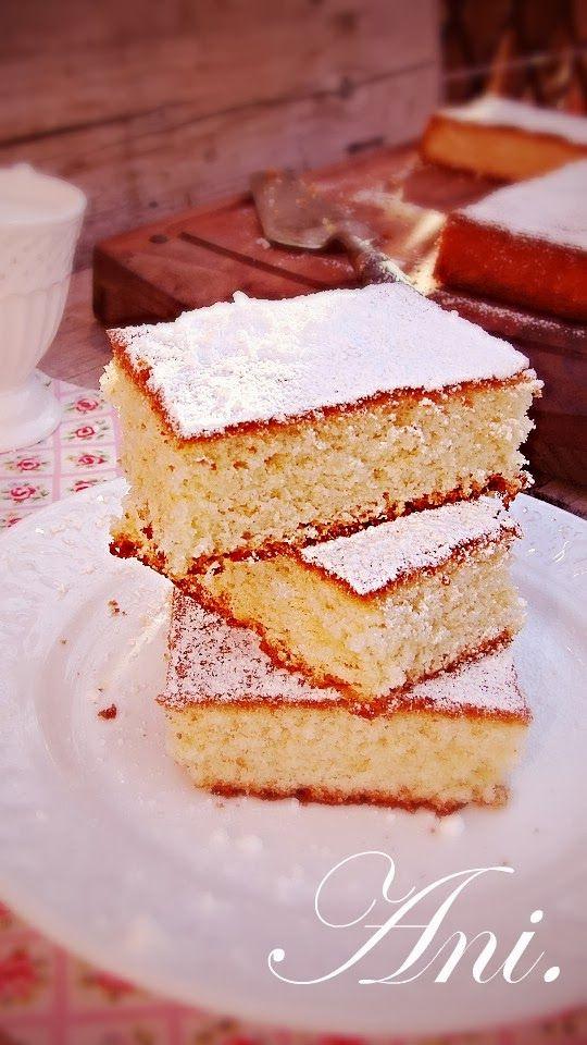 La Cocina de Ani: Bizcocho esponjoso de yogurt de limón