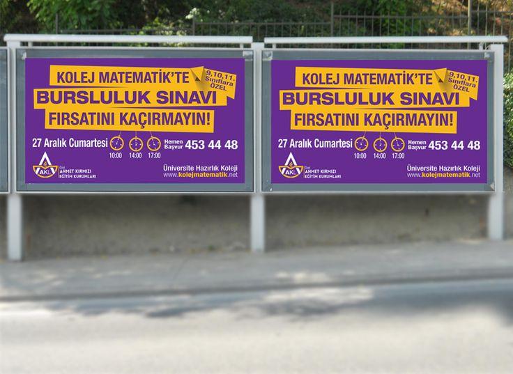 Ahmet Kırmızı Eğitim Kurumları billboard tasarımı